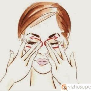 массаж глаз от отеков под глазами