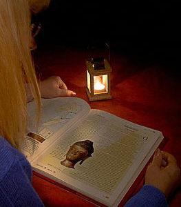 чтение в полутьме
