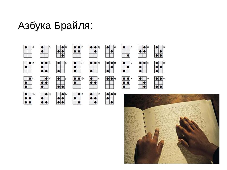 Как читают слепые по точкам?