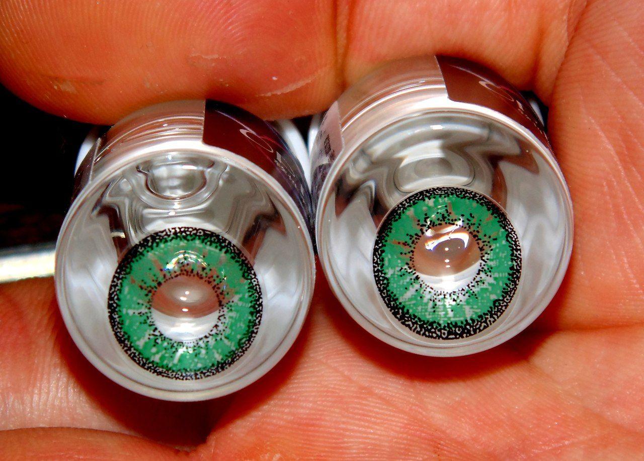 контактные линзы зеленые